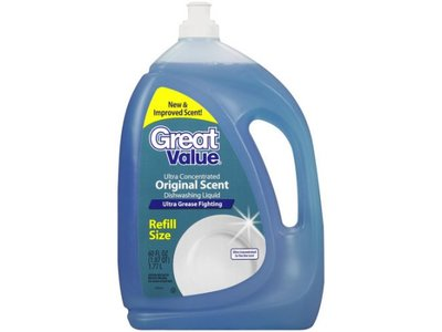Great Value Ultra Concentrated Dishwashing Liquid, Original, Scent, 90 fl oz