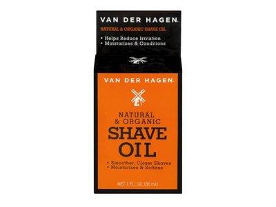 Van der Hagen Natural & Organic Shave Oil, 1 fl oz