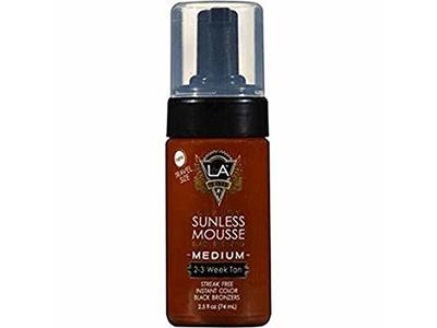 LA Tan luxury Sunless Mousse Black Bronzing, Medium/Dark 2.5 oz, Travel Size