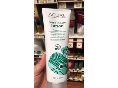 Acure Organics Bare Baby Lotion 7 5 Oz Ingredients And