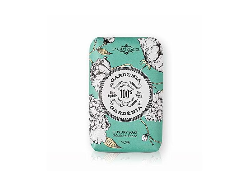 La Chatelaine Luxury Bar Soap, Gardenia, 7 oz