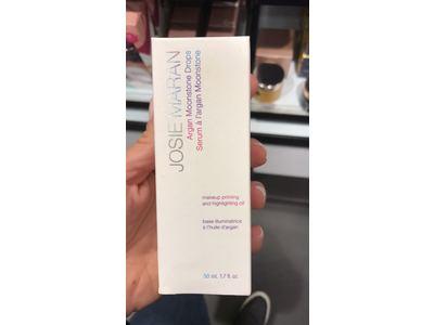 Josie Maran Argan Moonstone Drops Makeup Priming and Highlighting Oil, 1.7 fl oz