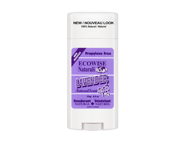 Ecowise Natural Deodorant, Lavender Scent, 2.5 oz/75 g