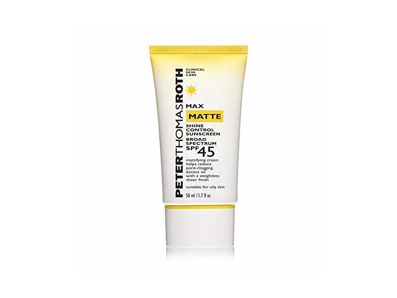 Peter Thomas Roth Max Matte Shine Control Sunscreen, SPF 45, 1.7 fl oz/50 ml