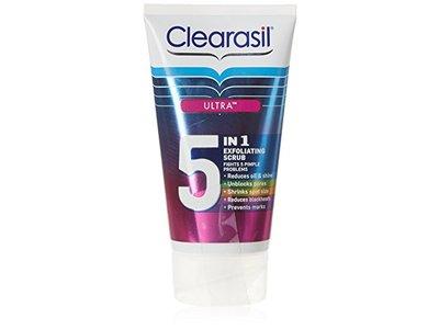 Clearasil Ultra 5 In 1 Exfoliating Scrub, 150 mL