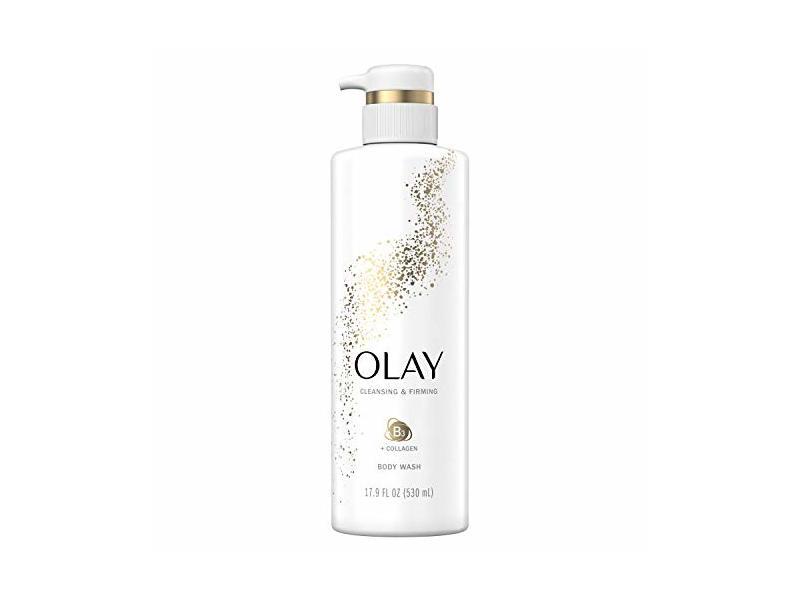 Olay Cleansing & Firming Body Wash, Vitamin B & Collagen, 17.9 fl oz / 530 ml