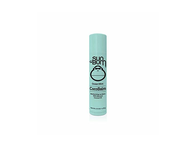 Sun Bum Ocean Mint CocoBalm Hydrating Lip Balm with Aloe, 0.15 oz