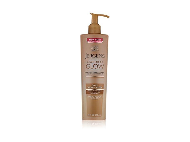 Jergens Natural Glow Daily Moisturizer, Fair to Medium Skin Tones, 10 Ounce Pump