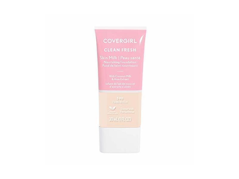 Covergirl Clean Fresh Skin Milk Foundation, Porcelain, 1 fl oz / 30 mL
