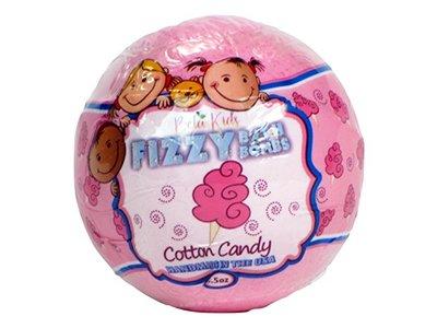 Bela Kids Effervescent Fizzy Bath Bomb, Pink Cotton Candy, 4.5 Ounce