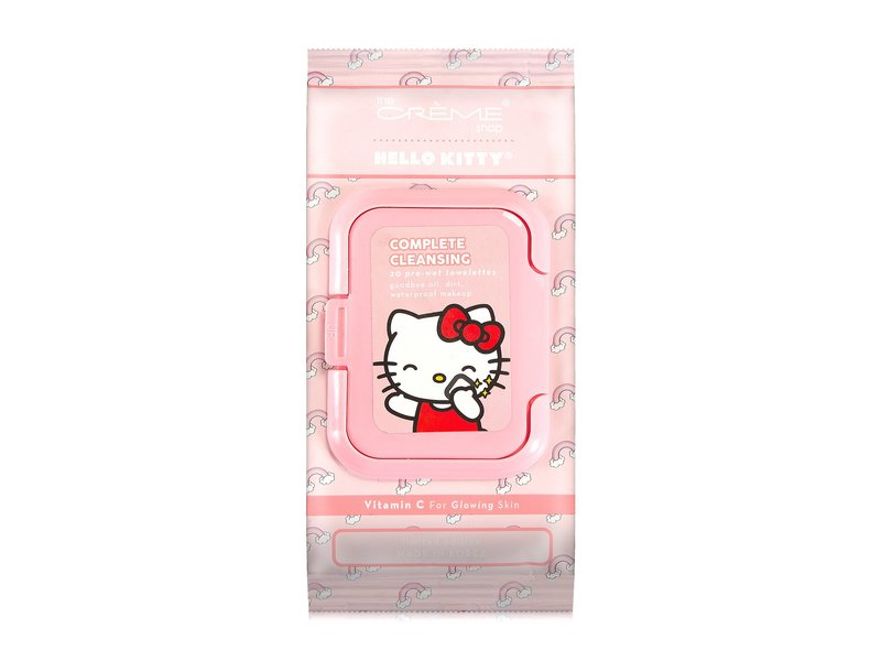 The Creme Shop Hello Kitty Complete Cleansing Towelettes, Vitamin C