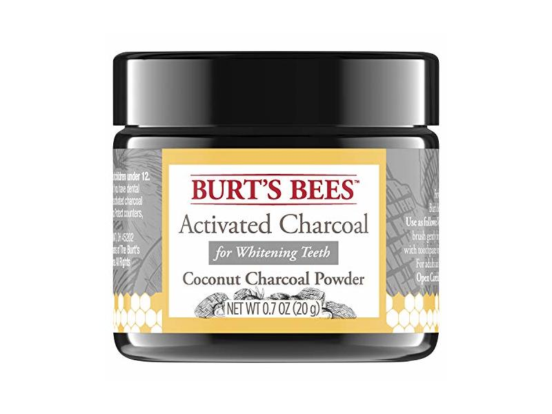 Burt's Bees Activated Coconut Charcoal Powder, Natural Flavor for Teeth Whitening, 20g