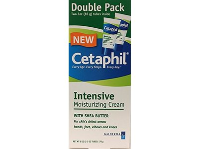 Cetaphil Intensive Moisturizing Cream with Shea Butter, 3 fl oz (Pack of 2)