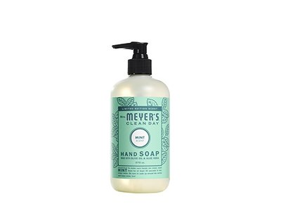 Mrs. Meyer's Clean Day Mint Hand Soap, 12.5 Fluid Ounce - Image 1