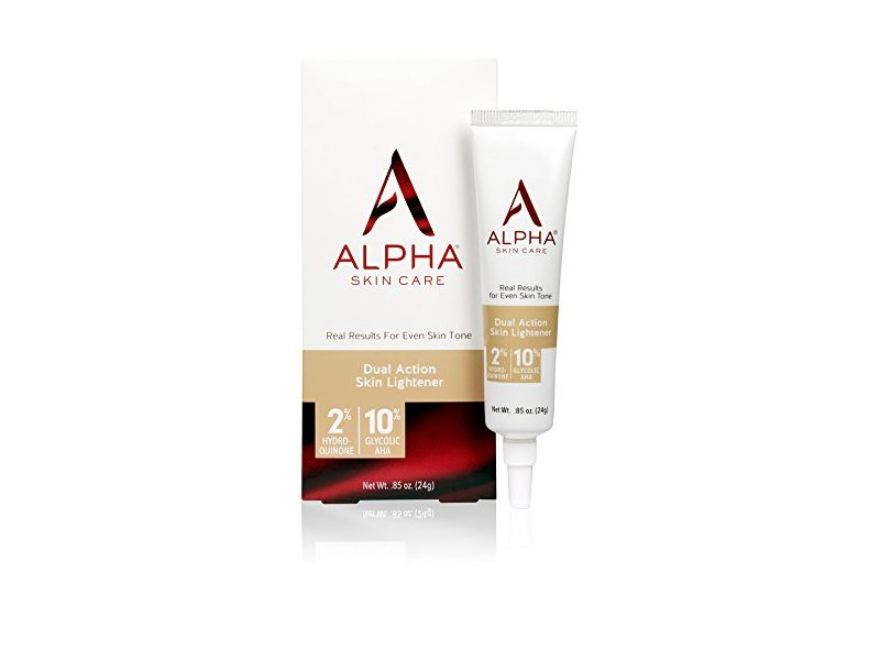 Alpha Skin Care - Dual Action Skin Lightener, 2% Hydroquinone, 10% Glycolic AHA, 0.85-Ounce