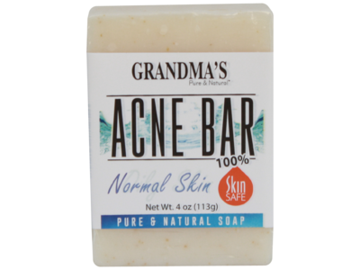 Grandma's Pure & Natural Acne Bar, Normal Skin, 4 oz