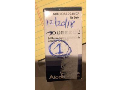 Durezol (difluprednate ophthalmic emulsion) 0.05% (RX), 8 mL, Alcon - Image 1