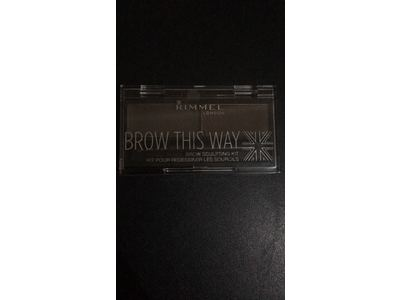 Rimmel Brow This Way Brow Sculpting Kit, Dark Brown, Powder 0.04 oz, Wax 0.03 oz - Image 4