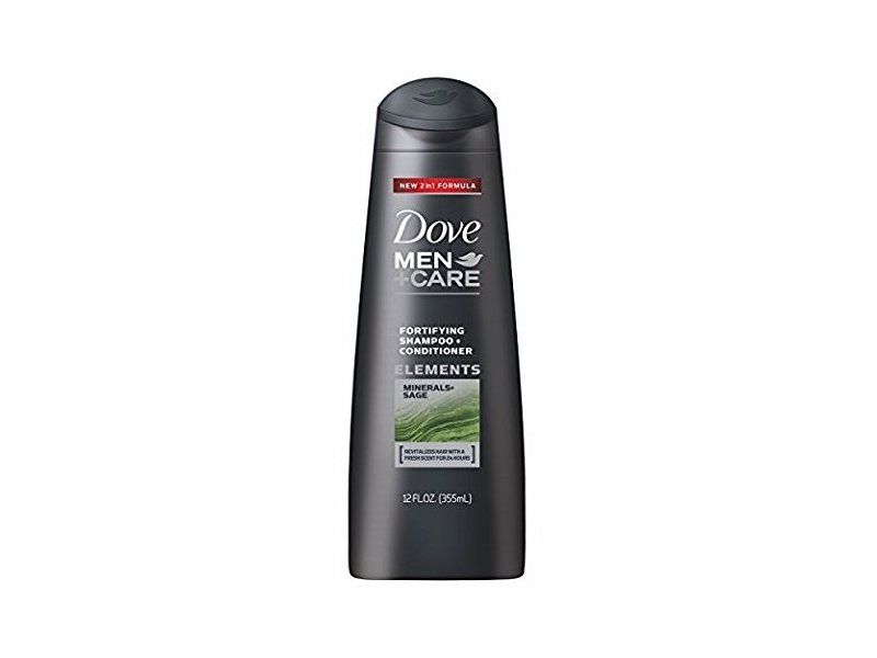Dove Men+Care Elements Fortifying Shampoo and Conditioner (2-in-1), Minerals and Sage, 12 oz