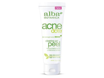 Alba Botanica Acne Dote Clearing Gel Peel, 4 oz