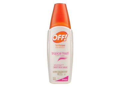 Off Familycare Tropical Fresh Insect Repellent, Light Scent, 9 fl oz