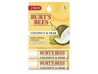 Burt's Bees Coconut & Pear Moisturizing Li Balm, 2 Tubes
