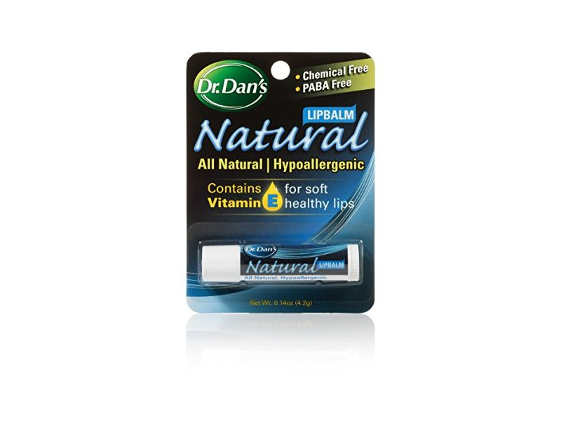 Dr. Dan's All Natural Formula Lip Balm, .15 oz tube (Pack of 3)