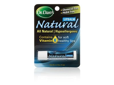 Dr. Dan's All Natural Formula Lip Balm, .15 oz tube (Pack of 3)