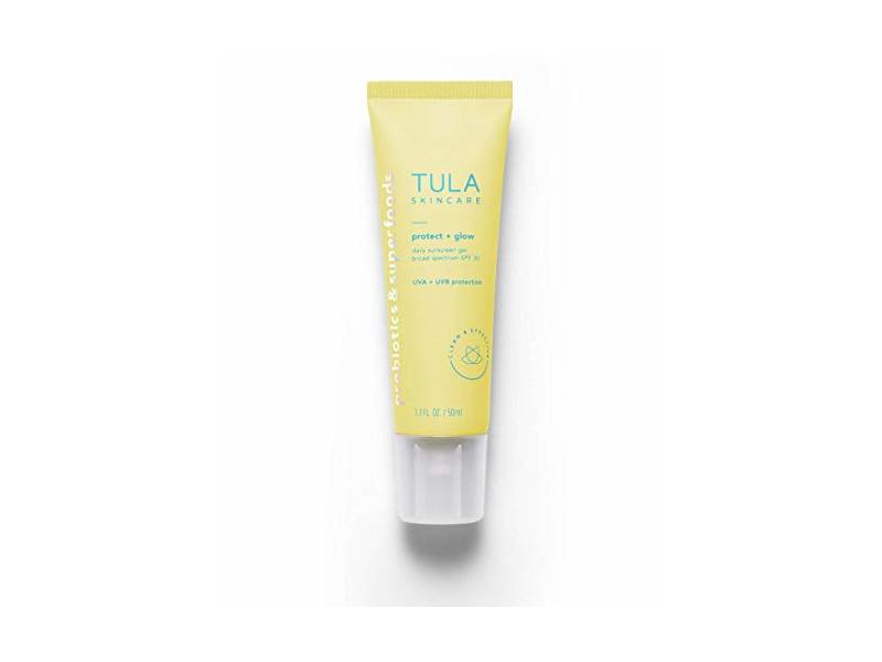 TULA Probiotic Skin Care Protect + Glow Daily Sunscreen Gel Broad Spectrum SPF 30, 1.7 oz
