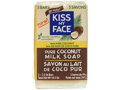 Kiss My Face Pure Coconut Milk Soap Bar with Coconut Oil, 3.5 Ounce, 3 Pack - Image 4