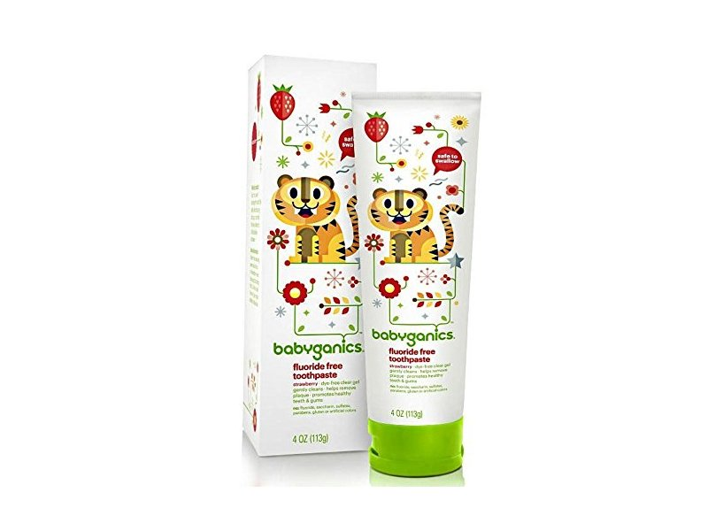 BabyGanics Fluoride Free Toothpaste, Strawberry, 4 oz