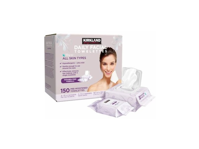 Kirkland Daily Facial Towelettes, 150 count