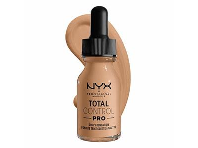Nyx Professional Makeup Total Control Pro Drop Foundation, Medium Olive, 0.43 fl oz/13 mL