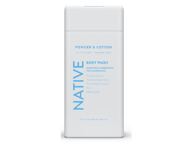 Native Body Wash, Powder And Cotton, 11.5 fl oz