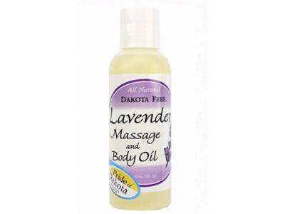 Dakota Free Lavender Massage & Body Oil, 4 oz