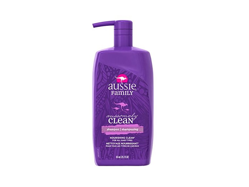 Aussie Family Aussomely Clean Shampoo with Pump, 29.2 oz