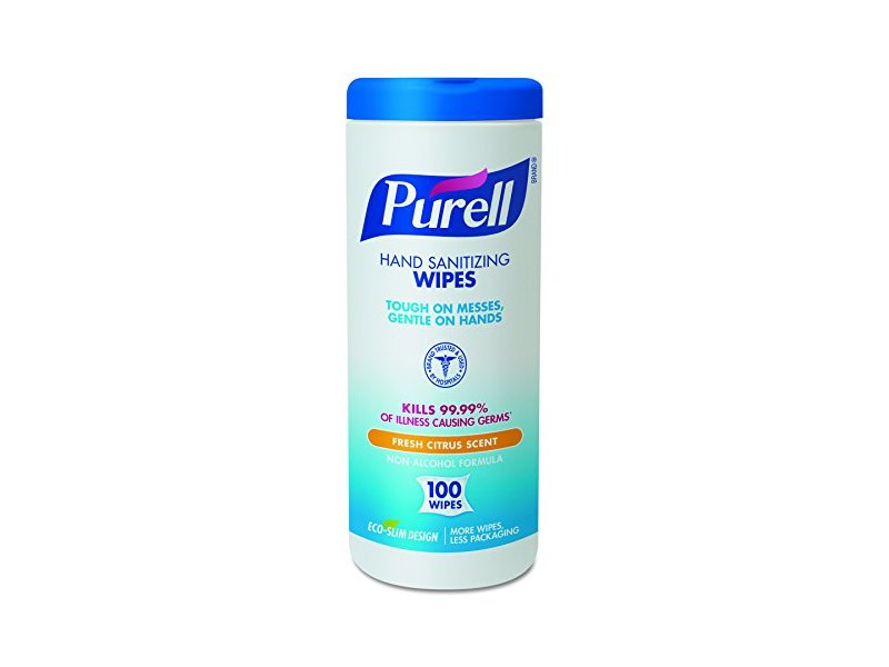 Purell Hand Sanitizing Wipes, Fresh Citrus Scent, 100 ct