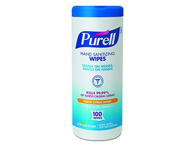 Purell Hand Sanitizing Wipes, Fresh Citrus Scent, 100 ct - Image 1