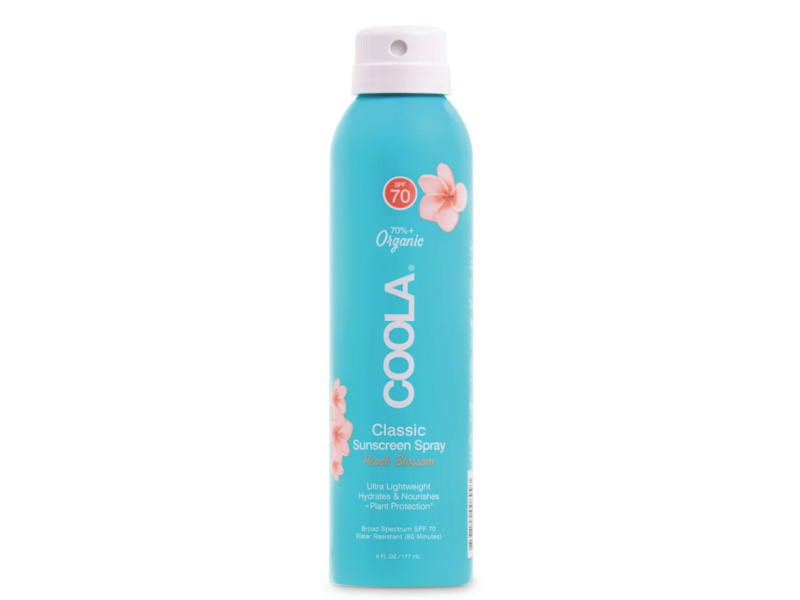 Coola Classic Sunscreen Spray, Peach Blossom, SPF 70, 6 fl oz/177 mL