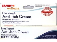 Family Wellness Extra Strength Anti-Itch Cream Histamine Blocker, 1 oz - Image 3