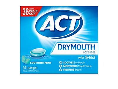 ACT Dry Mouth Lozenges Soothing Mint 36 Count
