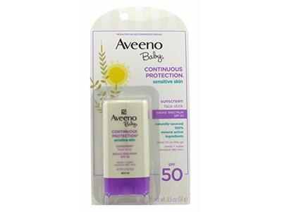 Aveeno Baby SPF50 Sunscreen Face Stick, 0.5 oz