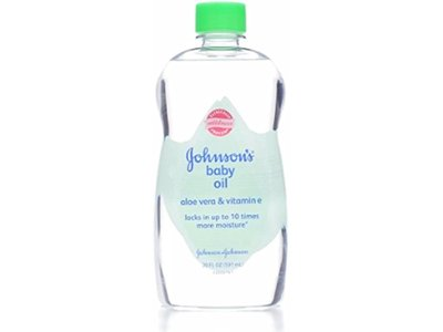 JOHNSON'S Aloe Vera & Vitamin E Baby Oil, 20 oz