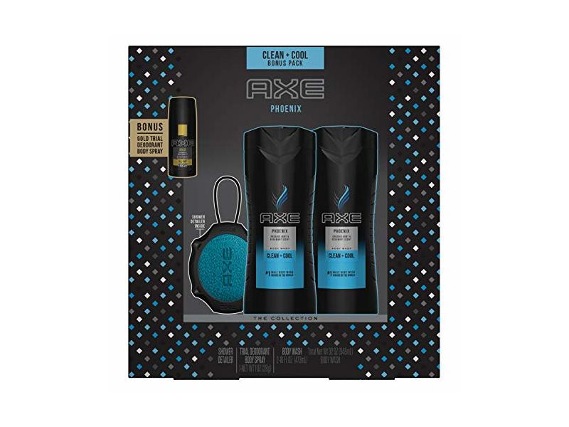 AXE Clean + Cool Gift Set With Bonus Pack, Phoenix, 4 ct