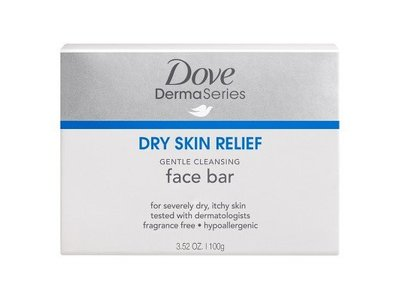 Dove DermaSeries Dry Skin Relief Gentle Cleansing Face Bar, 3.52 oz (Pack of 2)