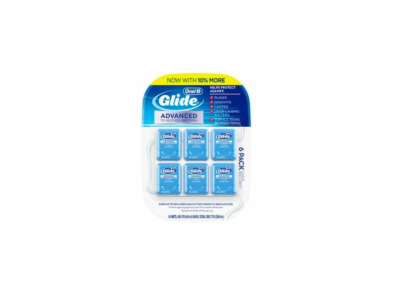 Oral-B Glide Advanced Floss, 6-pack