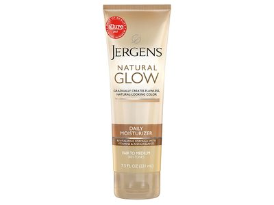Jergens Natural Glow Daily Moisturizer, Infused With Coconut Oil, 7.5 fl oz / 221 mL