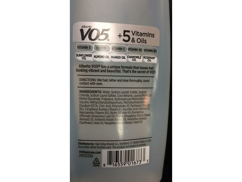 Alberto VO5 Detox Shampoo + 5 Vitamins & Oils