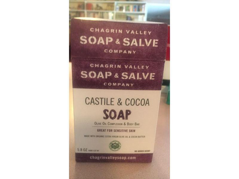 Chagrin Valley Soap & Salve Company, Castile & Cocoa Soap, 5.8 oz