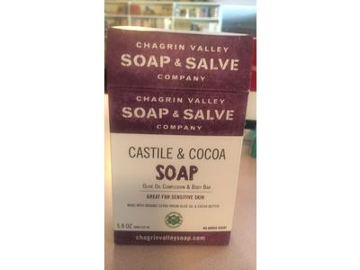 Chagrin Valley Soap & Salve Company, Castile & Cocoa Soap, 5.8 oz